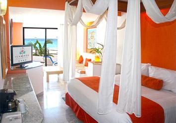 Flamingo Cancun Resort bedroom