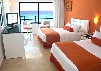 Flamingo Cancun Resort double bedroom