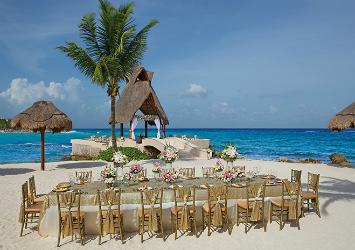 Dreams Puerto Aventuras Resort And Spa Riviera Maya, Mexico beach wedding